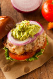 Homemade Healthy Turkey Burgers. With Lettuce and Tomato Royalty Free Stock Photo