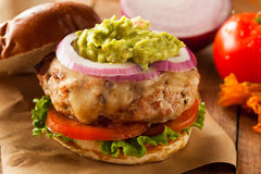 Homemade Healthy Turkey Burgers Royalty Free Stock Photo