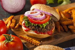 Homemade Healthy Vegetarian Quinoa Burger Stock Photo