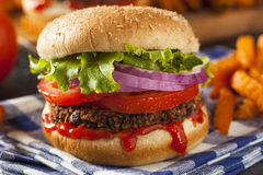 Homemade Healthy Vegetarian Quinoa Burger Royalty Free Stock Photo