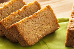 Homemade Healthy Zucchini Bread Stock Photos