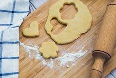 Homemade heart/flower shaped pastry Stock Photo
