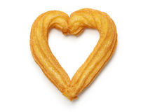 Homemade heart shape churro Stock Photography