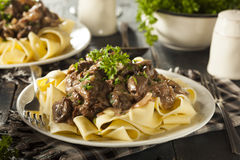 Homemade Hearty Beef Stroganoff Stock Photography