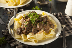 Homemade Hearty Beef Stroganoff Royalty Free Stock Photo
