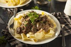 Homemade Hearty Beef Stroganoff Royalty Free Stock Photo