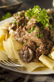 Homemade Hearty Beef Stroganoff Royalty Free Stock Photos