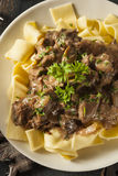 Homemade Hearty Beef Stroganoff Stock Image