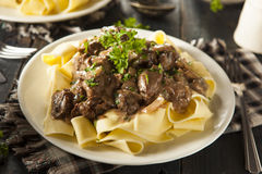 Homemade Hearty Beef Stroganoff Royalty Free Stock Image