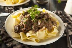 Homemade Hearty Beef Stroganoff Royalty Free Stock Image