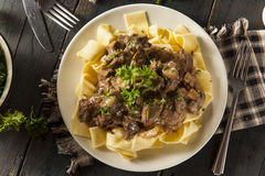 Homemade Hearty Beef Stroganoff Stock Photos