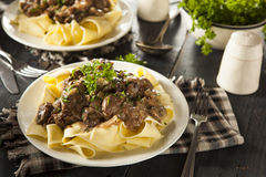 Homemade Hearty Beef Stroganoff Stock Images