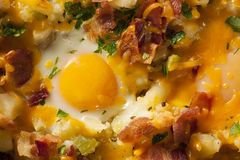 Homemade Hearty Breakfast Skillet Stock Photography