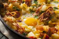 Homemade Hearty Breakfast Skillet Royalty Free Stock Image