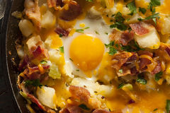 Homemade Hearty Breakfast Skillet Stock Photography