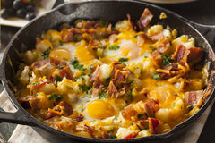 Homemade Hearty Breakfast Skillet Stock Photo