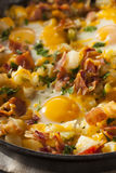 Homemade Hearty Breakfast Skillet Stock Photos