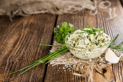 Homemade Herb Butter Royalty Free Stock Images