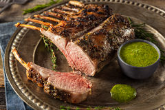 Homemade Herb Roast Lamb Royalty Free Stock Images