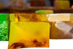 Homemade herbal soap bars Stock Image