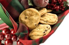 Homemade Holiday Chocolate Chip Cookies Stock Images