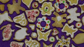 Homemade holiday cookies stock video footage
