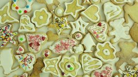 Homemade holiday cookies stock video