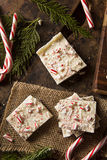 Homemade Holiday Peppermint Bark Stock Images