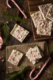 Homemade Holiday Peppermint Bark Stock Photography