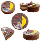 Homemade home cake. Baker bakery birthday cake captain celebrate culinary deliciously dessert Stock Images