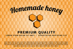 Homemade honey badge and label. Vector illustration design Stock Photos