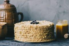 Homemade Honey Cake royalty free stock image