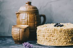 Homemade Honey Cake stock photography