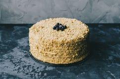 Homemade Honey Cake royalty free stock images