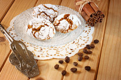 Homemade honey cakes on wooden table Stock Photography