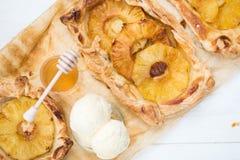 Homemade honey-glazed pineapple tarts Stock Photo