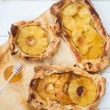 Homemade honey-glazed pineapple tarts Royalty Free Stock Photography