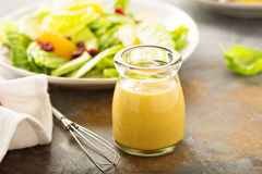 Free Homemade Honey Mustard Salad Dressing Royalty Free Stock Photography - 85658117