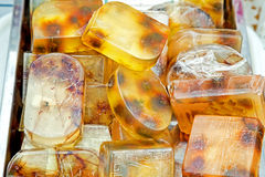 Homemade honey soap Stock Photos