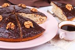 Homemade honey walnut pie Stock Photo