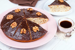Homemade honey walnut pie Royalty Free Stock Image