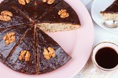 Homemade honey walnut pie Royalty Free Stock Photo