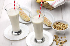 Homemade horchata and fartons. Stock Images