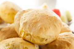 Homemade Hot Buttermilk Biscuits Stock Photo