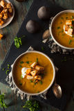 Homemade Hot Butternut Squash Soup Royalty Free Stock Image