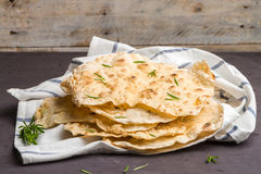 Homemade hot chapati. On kitchen countertop background stock photography