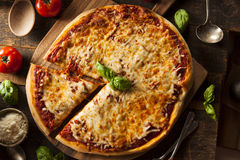 Homemade Hot Cheese Pizza Royalty Free Stock Photography