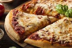 Homemade Hot Cheese Pizza Royalty Free Stock Photo