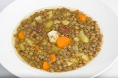 Homemade hot dish of lentils Royalty Free Stock Photos