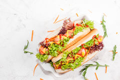 Homemade hot dogs Stock Images